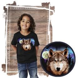 Koszulka dziecięca z wilkiem WOLF LIGHTNING