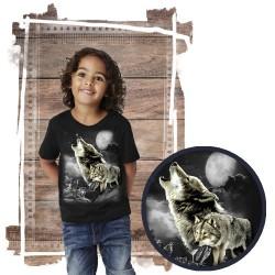 Koszulka dziecięca z wilkiem WOLF WILDERNESS