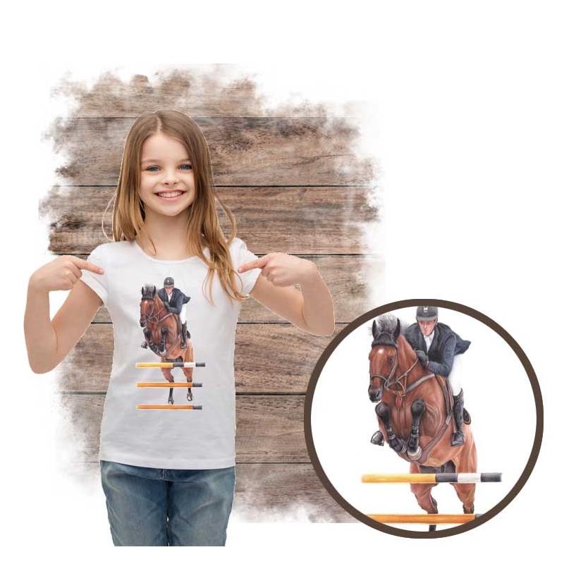 """Koszulka dziewczęca z koniem """"SKOKI"""""""