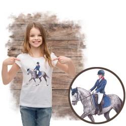 """Koszulka dziewczęca z koniem """"koń pony"""""""