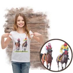 Koszulka dziewczęca z koniem gonitwa
