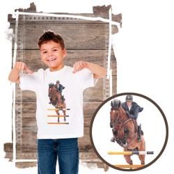 Koszulka chłopięca z koniem skoki