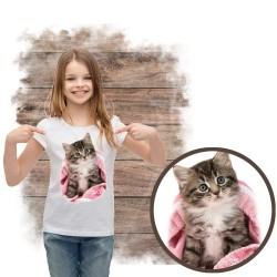 koszulka z kotem PINK-BLANKET-KITTEN