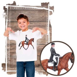Koszulka chłopięca z koniem dresaż