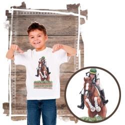 Koszulka chłopięca z koniem cross