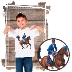 Koszulka chłopięca z koniem galop