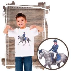 Koszulka chłopięca z koniem pony dresaż