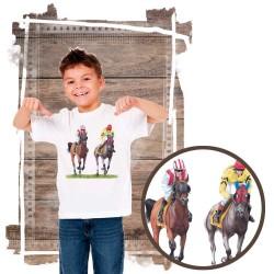Koszulka chłopięca z koniem gonitwa