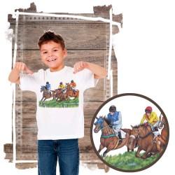 Koszulka chłopięca z koniem gonitwa płot