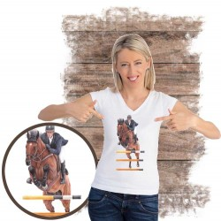 Koszulka damska z koniem skoki