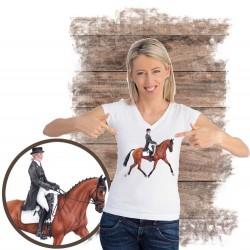 Koszulka damska z koniem dresaż