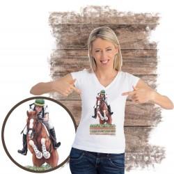 Koszulka damska z koniem cross