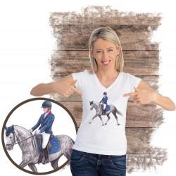 Koszulka damska z koniem pony dresaż