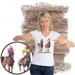 Koszulka damska z koniem gonitwa