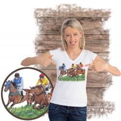 Koszulka damska z koniem gonitwa płoty