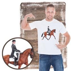Koszulka męska z koniem dresaż