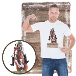 Koszulka męska z koniem cross
