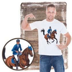 Koszulka męska z koniem galop