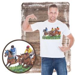 Koszulka męska z koniem gonitwa płot
