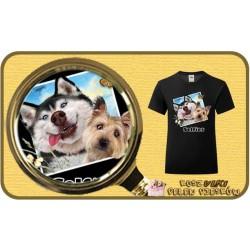 Koszulka dziewczęca z pieskiem DOGS SELFIE