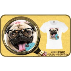 Koszulka dziewczęca z pieskiem PUG RHINESTONES