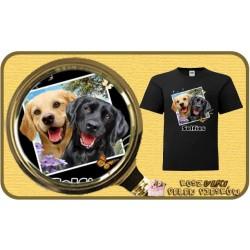 Koszulka chłopięca z pieskiem LAB DOGS SELFIE