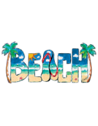 Koszulka Fruit of the Loom, motyw lato, morze, plaża, wypoczynek, wakacje, słońce